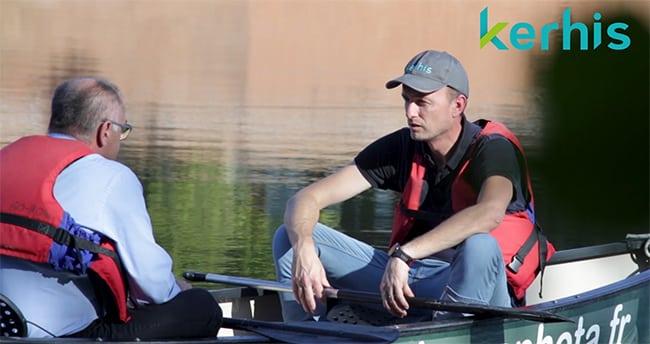 tournage du film corporate de Kerhis sur la Garonne à Toulouse