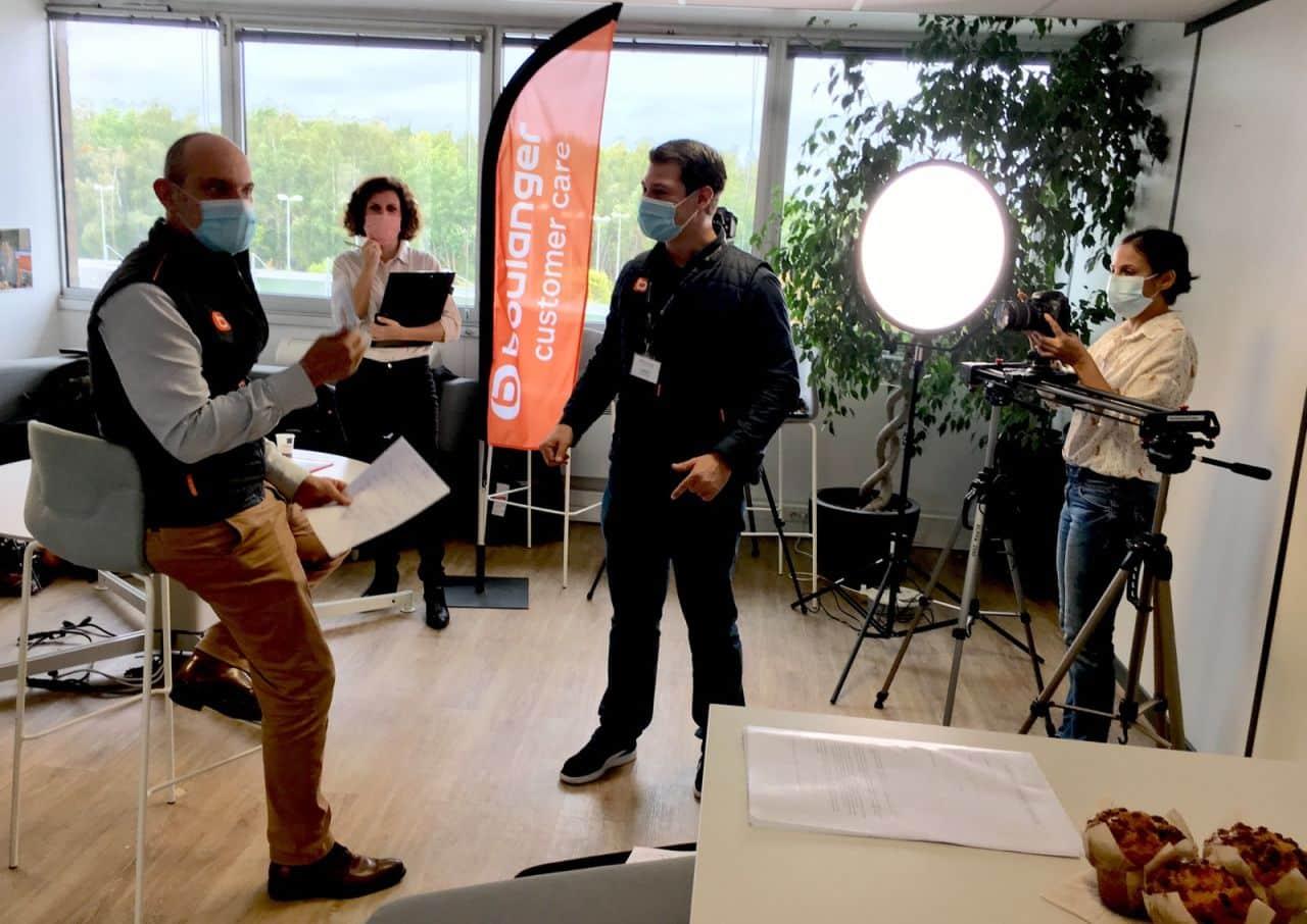 tournage communication vidéo boulanger customer care